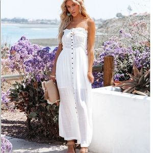 Healthy Glow Pocketed Button Down Maxi Dress